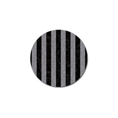 Stripes1 Black Marble & Gray Colored Pencil Golf Ball Marker by trendistuff