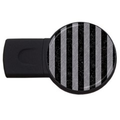 Stripes1 Black Marble & Gray Colored Pencil Usb Flash Drive Round (4 Gb) by trendistuff