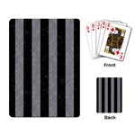 STRIPES1 BLACK MARBLE & GRAY COLORED PENCIL Playing Card Back