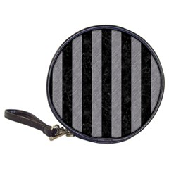 Stripes1 Black Marble & Gray Colored Pencil Classic 20 Cd Wallets by trendistuff
