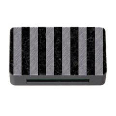 Stripes1 Black Marble & Gray Colored Pencil Memory Card Reader With Cf by trendistuff