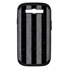 Stripes1 Black Marble & Gray Colored Pencil Samsung Galaxy S Iii Hardshell Case (pc+silicone) by trendistuff