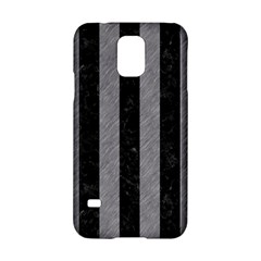 Stripes1 Black Marble & Gray Colored Pencil Samsung Galaxy S5 Hardshell Case  by trendistuff