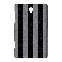 Stripes1 Black Marble & Gray Colored Pencil Samsung Galaxy Tab S (8 4 ) Hardshell Case