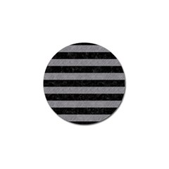 Stripes2 Black Marble & Gray Colored Pencil Golf Ball Marker by trendistuff