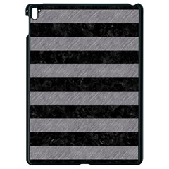 Stripes2 Black Marble & Gray Colored Pencil Apple Ipad Pro 9 7   Black Seamless Case