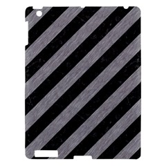 Stripes3 Black Marble & Gray Colored Pencil Apple Ipad 3/4 Hardshell Case by trendistuff