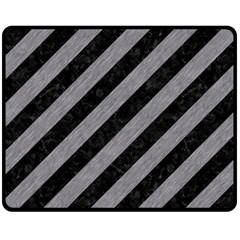 Stripes3 Black Marble & Gray Colored Pencil Double Sided Fleece Blanket (medium)  by trendistuff