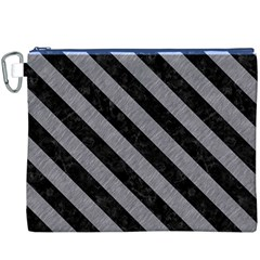 Stripes3 Black Marble & Gray Colored Pencil (r) Canvas Cosmetic Bag (xxxl) by trendistuff