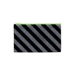 Stripes3 Black Marble & Gray Colored Pencil (r) Cosmetic Bag (xs) by trendistuff