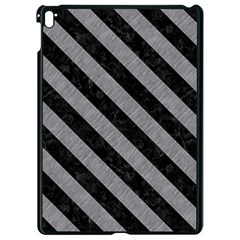 Stripes3 Black Marble & Gray Colored Pencil (r) Apple Ipad Pro 9 7   Black Seamless Case