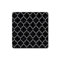 Tile1 Black Marble & Gray Colored Pencil Square Magnet