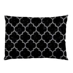 Tile1 Black Marble & Gray Colored Pencil Pillow Case by trendistuff