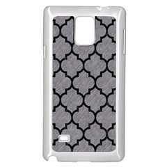 Tile1 Black Marble & Gray Colored Pencil (r) Samsung Galaxy Note 4 Case (white) by trendistuff