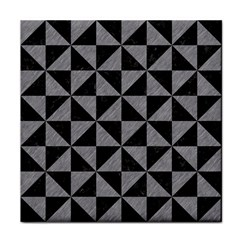 Triangle1 Black Marble & Gray Colored Pencil Tile Coasters by trendistuff