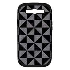 Triangle1 Black Marble & Gray Colored Pencil Samsung Galaxy S Iii Hardshell Case (pc+silicone)