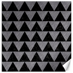 Triangle2 Black Marble & Gray Colored Pencil Canvas 16  X 16   by trendistuff