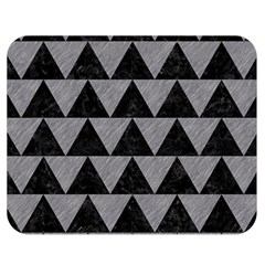 Triangle2 Black Marble & Gray Colored Pencil Double Sided Flano Blanket (medium)  by trendistuff