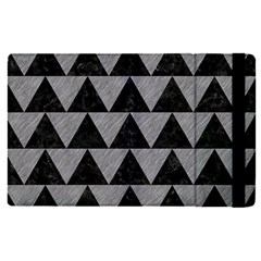 Triangle2 Black Marble & Gray Colored Pencil Apple Ipad Pro 9 7   Flip Case by trendistuff