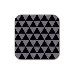 Triangle3 Black Marble & Gray Colored Pencil Rubber Square Coaster (4 Pack)  by trendistuff