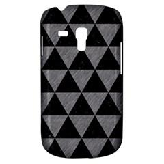 Triangle3 Black Marble & Gray Colored Pencil Galaxy S3 Mini by trendistuff