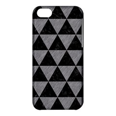 Triangle3 Black Marble & Gray Colored Pencil Apple Iphone 5c Hardshell Case by trendistuff