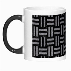 Woven1 Black Marble & Gray Colored Pencil Morph Mugs by trendistuff