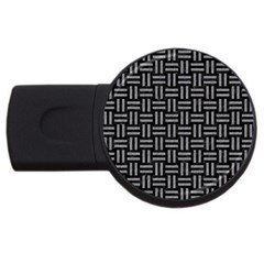 Woven1 Black Marble & Gray Colored Pencil Usb Flash Drive Round (4 Gb) by trendistuff