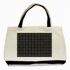 Woven1 Black Marble & Gray Colored Pencil Basic Tote Bag by trendistuff