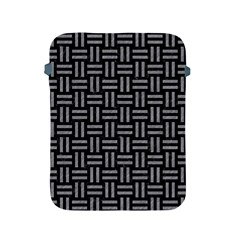 Woven1 Black Marble & Gray Colored Pencil Apple Ipad 2/3/4 Protective Soft Cases by trendistuff