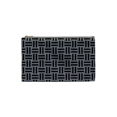 Woven1 Black Marble & Gray Colored Pencil (r) Cosmetic Bag (small)  by trendistuff