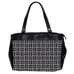 Woven1 Black Marble & Gray Colored Pencil (r) Office Handbags (2 Sides)  by trendistuff