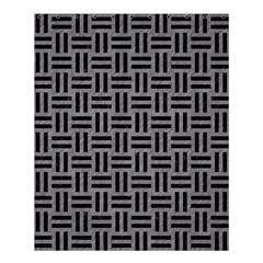 Woven1 Black Marble & Gray Colored Pencil (r) Shower Curtain 60  X 72  (medium)  by trendistuff