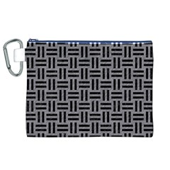 Woven1 Black Marble & Gray Colored Pencil (r) Canvas Cosmetic Bag (xl) by trendistuff
