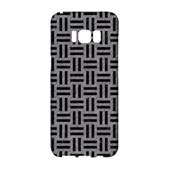 Woven1 Black Marble & Gray Colored Pencil (r) Samsung Galaxy S8 Hardshell Case  by trendistuff