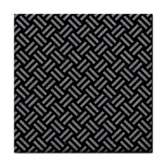 Woven2 Black Marble & Gray Colored Pencil Face Towel