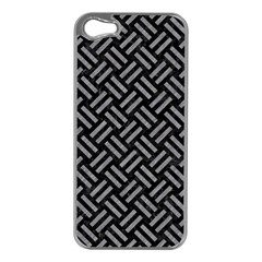 Woven2 Black Marble & Gray Colored Pencil Apple Iphone 5 Case (silver)