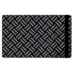 Woven2 Black Marble & Gray Colored Pencil Apple Ipad 2 Flip Case by trendistuff