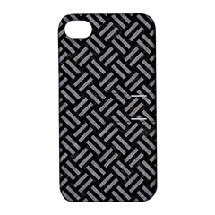 Woven2 Black Marble & Gray Colored Pencil Apple Iphone 4/4s Hardshell Case With Stand by trendistuff