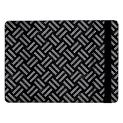Woven2 Black Marble & Gray Colored Pencil Samsung Galaxy Tab Pro 12 2  Flip Case by trendistuff