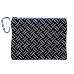 Woven2 Black Marble & Gray Colored Pencil Canvas Cosmetic Bag (xl) by trendistuff
