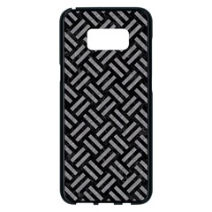 Woven2 Black Marble & Gray Colored Pencil Samsung Galaxy S8 Plus Black Seamless Case by trendistuff