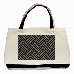Woven2 Black Marble & Gray Colored Pencil (r) Basic Tote Bag by trendistuff