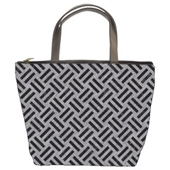 Woven2 Black Marble & Gray Colored Pencil (r) Bucket Bags by trendistuff
