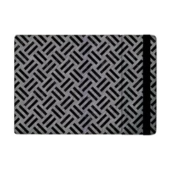 Woven2 Black Marble & Gray Colored Pencil (r) Apple Ipad Mini Flip Case by trendistuff