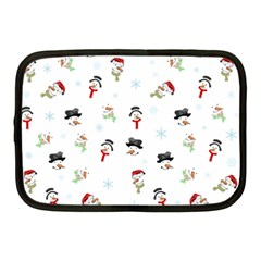 Snowman Pattern Netbook Case (medium)  by Valentinaart