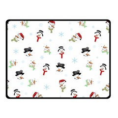 Snowman Pattern Fleece Blanket (small) by Valentinaart