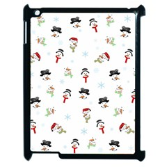 Snowman Pattern Apple Ipad 2 Case (black) by Valentinaart