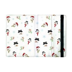 Snowman Pattern Apple Ipad Mini Flip Case by Valentinaart