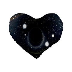 Brightest Cluster Galaxies And Supermassive Black Holes Standard 16  Premium Flano Heart Shape Cushions by Mariart